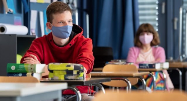 Geen mondmaskers in de klas a.u.b.