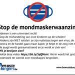 Stop de mondmasker waanzin (a.u.b)