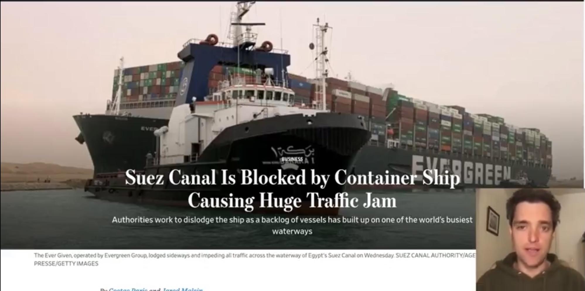 Blokkade Suez-kanaal zorgt voor 'worstcase scenario'