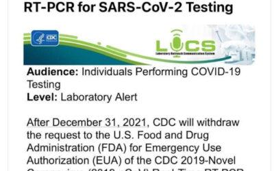 Trekt FDA toestemming PCR test in wegens valse positieven en 'geen onderscheid met griep'?