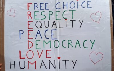 Europese demonstratie 11 september: sfeerbeelden