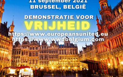 Europese demonstratie voor vrijheid: 11-9 Brussel